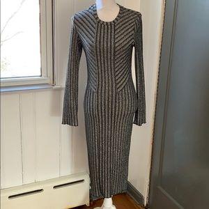 H&M Black and Silver Glitter Dress